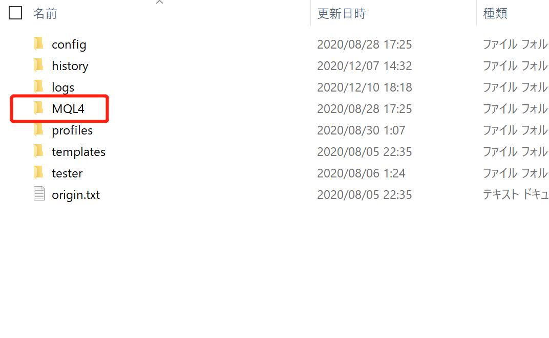 MT4文件夾
