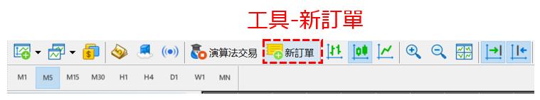 MT5顯示訂單介面的方法