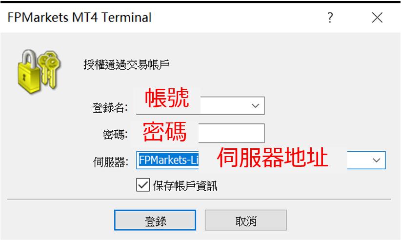 FP Markets MT4登入