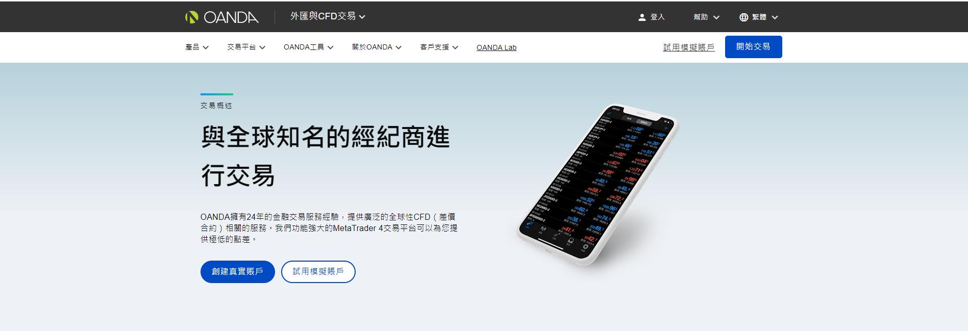 OANDA台灣官網