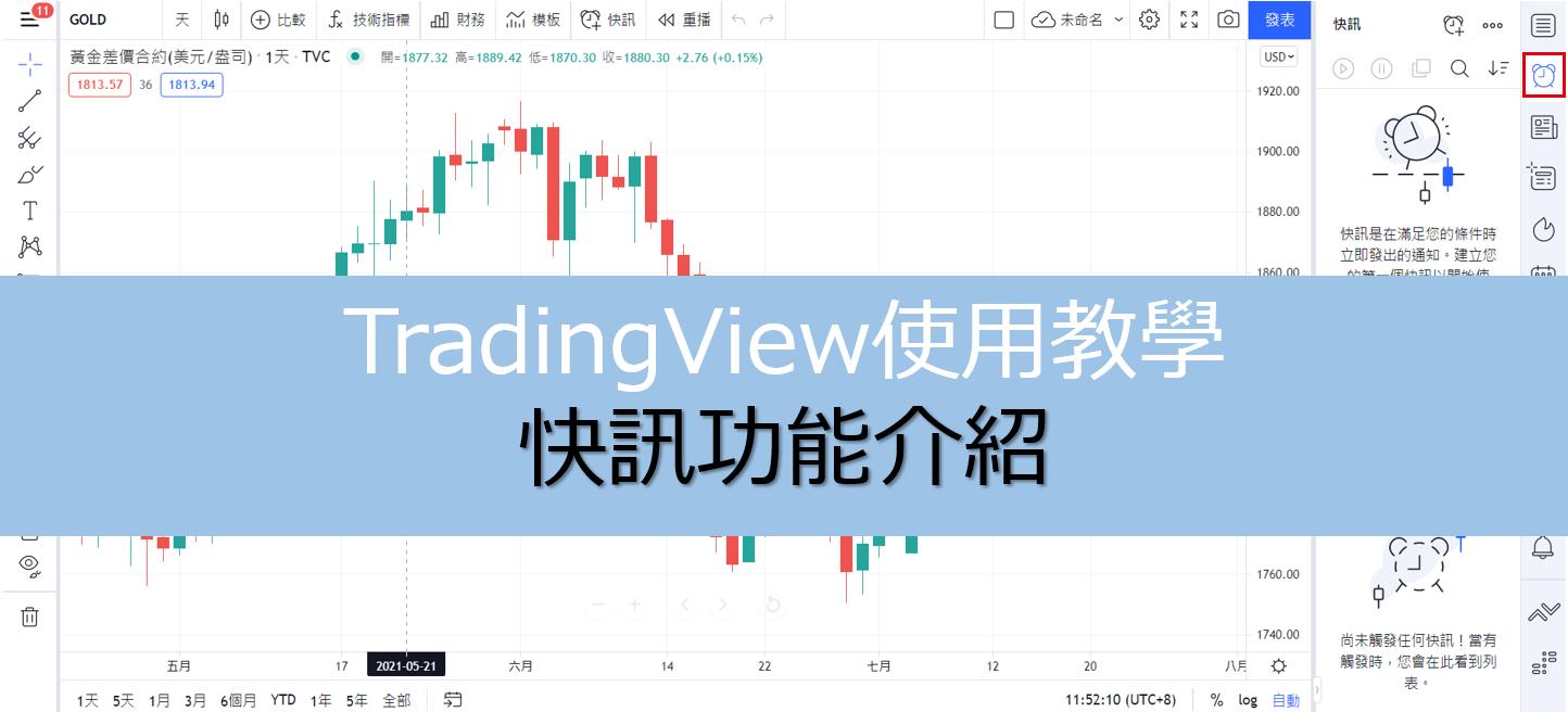 TradingView中非常便利功能之快訊功能